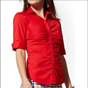 NWT New York & Company red blouse